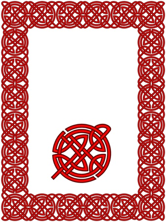 Celtic frame pattern Vector