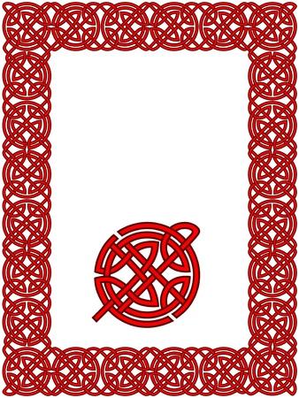 irish banners: Celtic frame pattern