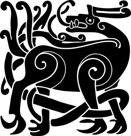 Celtic ornamentales querida Ilustración de vector