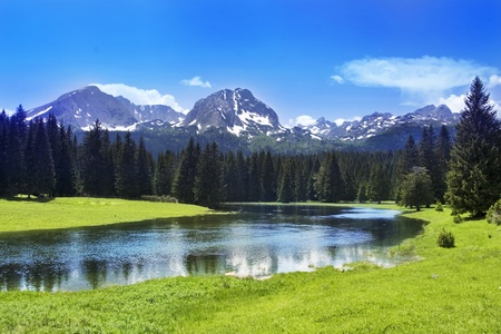 Mountain scenery, National park Durmitor, Montenegro photo