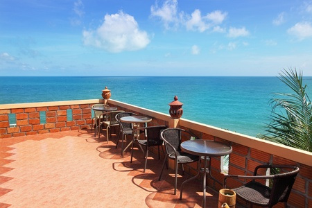 Terrace with beautiful sea view Banco de Imagens