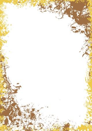 Gold grunge frame - raster background