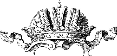 etching pattern: old crown ornament