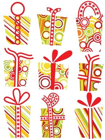 12 different cardboard gift boxes Stock Vector - 11651675