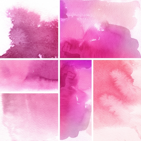texture paper: Set of watercolor abstract hand painted backgrounds