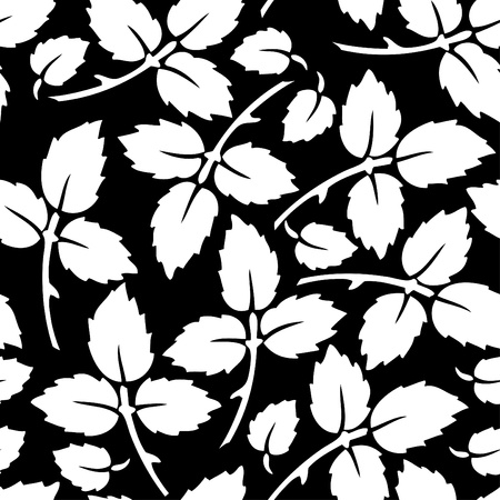 leafs: Botanical seamless pattern