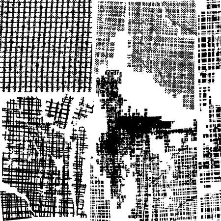 ink blots: Grungy background vector set