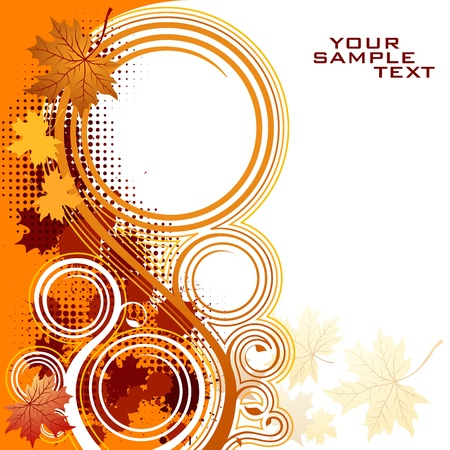 toned: Autumnal floral background with copy space Illustration
