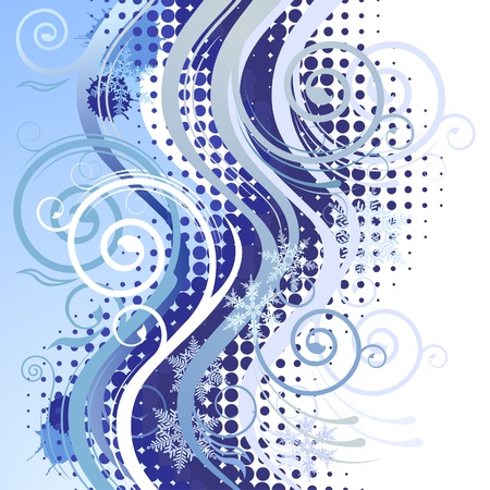 Grungy background with copy spa�e in blue tints Vector