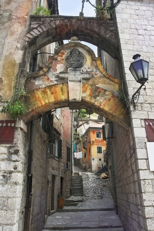 Old town in Kotor, Montenegro photo