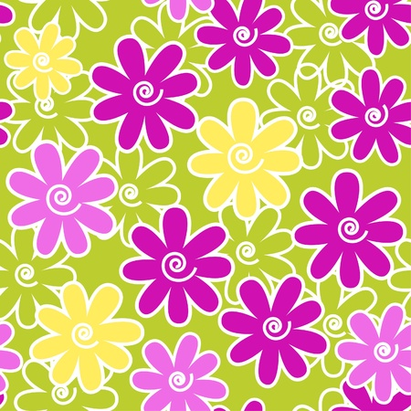 flores: floral seamless pattern Illustration