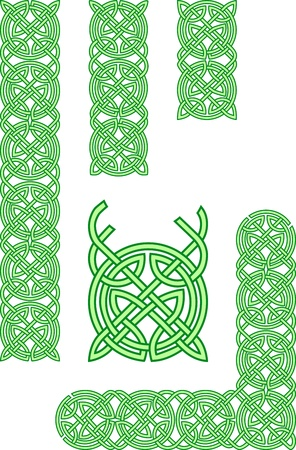 irish banners: Celtic elementos de ornamento
