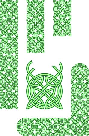 Celtic ornament elements Vector