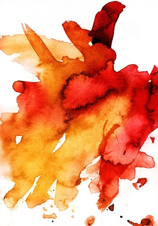cuadros abstractos: La mano acuarela abstracta fondo pintado