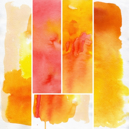 multilayer: Set of abstract  watercolor hand painted background