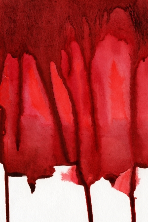 degraded: Red splash, watercolor abstract hand painted background
