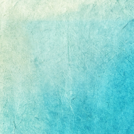 blue border: Handmade blue rice paper texture
