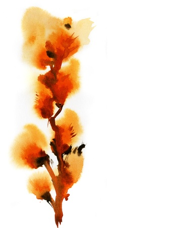 Abstract floral watercolor paintings photo