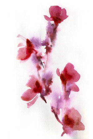 painted image: Abstract floral watercolor paintings