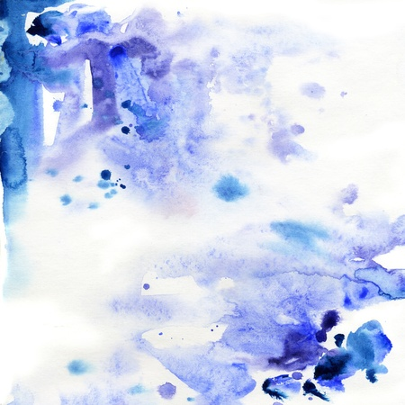 Abstract watercolor hand painted background. Painted and scanned by photographer.