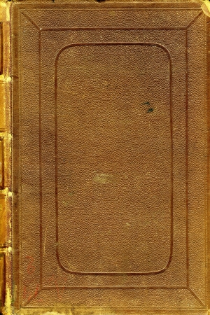 book binding: cover of the old book  Stock Photo
