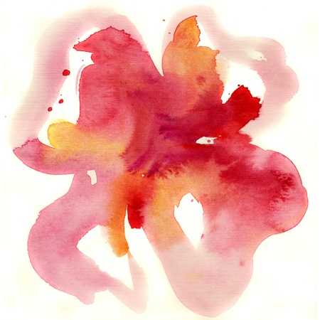 Abstract floral watercolor paintings Stock Photo - 15098229