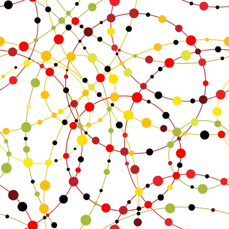 Multicolored dot background Ilustração