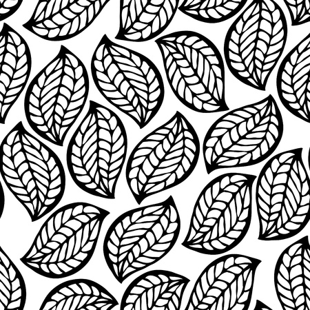 simple flower: Floral seamless pattern with leaves Illustration