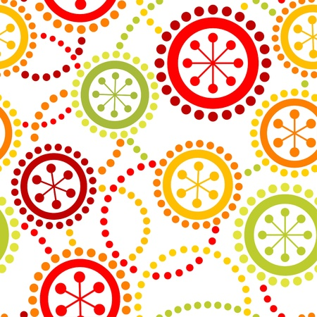 polka dot pattern: Seamless retro ornamental background Illustration