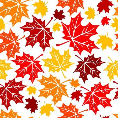 jachere: Seamless pattern avec des feuilles d'automne Illustration