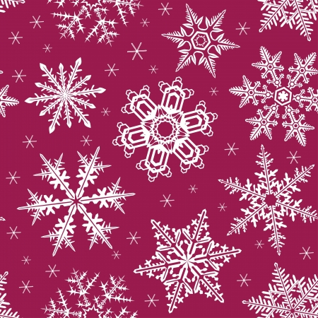 Seamless pattern background with snowflackes Vector