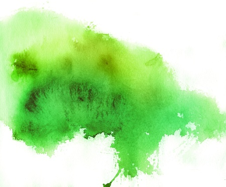 colour intensity: Green spot, watercolor abstract hand painted background
