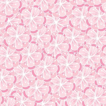 peach blossom: Peach blossom seamless ornament