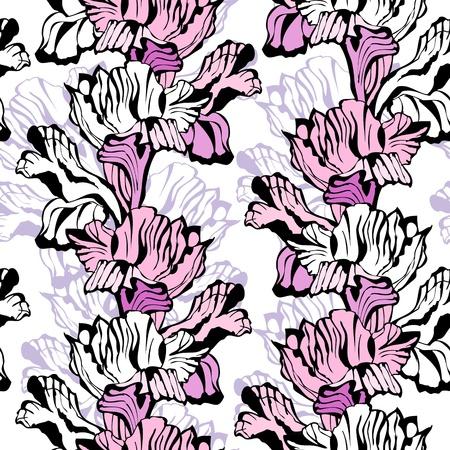Iris seamless ornament Stock Vector - 20989076