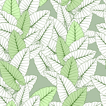 Tropical foliage seamless ornament Vector