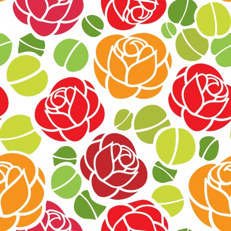 Floral seamless ornament, nice for wallpaper, wrapper paper or fabric swatch Illustration
