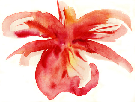 abstract paintings: Abstract floral watercolor paintings