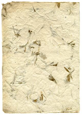 Handmade beige rice paper texture
