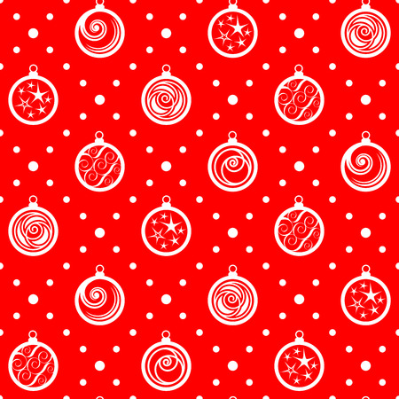 christmastree: Seamless pattern. Ornament with Christmas-tree decorations. Holiday background