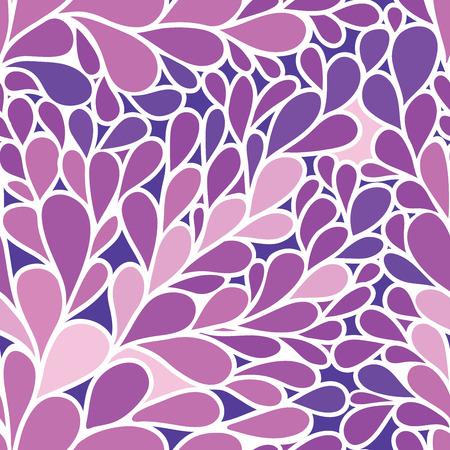 foliate: Seamless pattern. Foliate background in purple colors