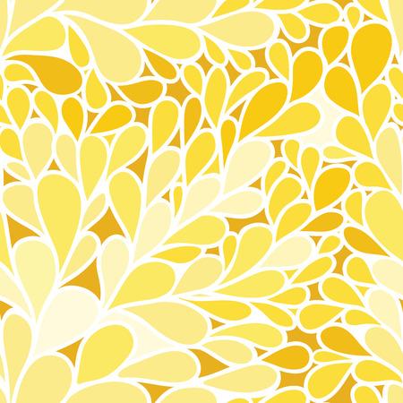foliate: Seamless pattern. Foliate background in yellow colors Illustration