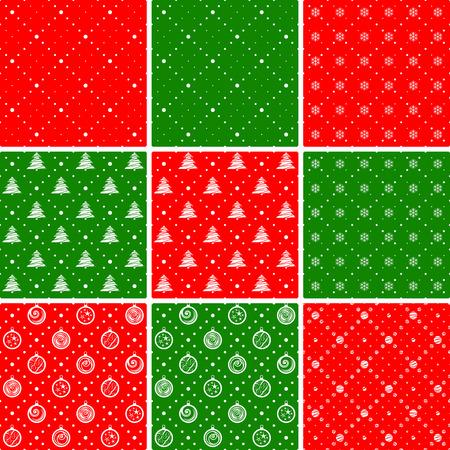 Patrones de costura. Ornamento con árboles de Navidad y rombos de puntos. Antecedentes de vacaciones.