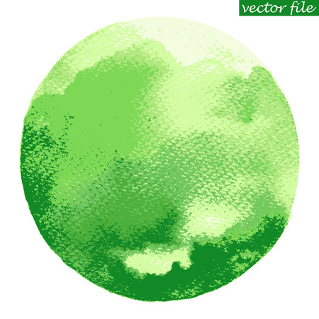 watercolour: Watercolor circle. Watercolor stain isolated on white background. Watercolour palette.