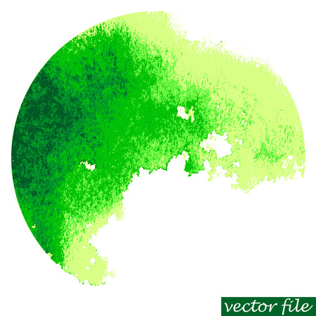 Watercolor circle. Watercolor stain isolated on white background. Watercolor palette. Vector file.