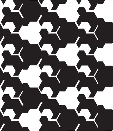 Seamless pattern. Repeating abstract background with hexagons and lines.