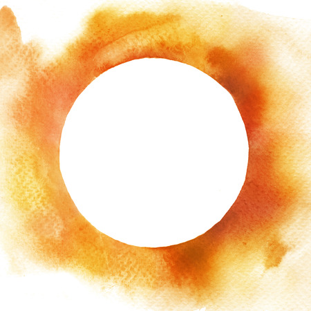 Watercolor circle frame background
