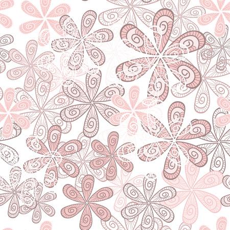 Élégant Contexte Fleurs Seamless. Motif floral. Ornement Tint Quartz Rose. Vecteurs