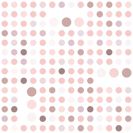 Polka dot seamless background. Abstract geometric pattern. Rose quar tint ornamental texture.
