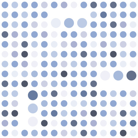 Polka dot seamless background. Abstract geometric pattern. Serenity tint ornamental texture. 向量圖像