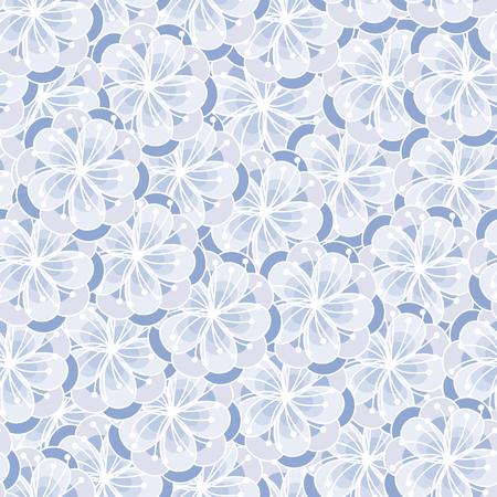 peach blossom: Peach flower blossom seamless ornament. Floral background. Serenity tint pattern.